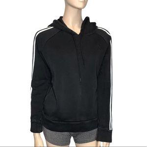 Adidas Small Long Sleeve Hooded Black Sweatshirt